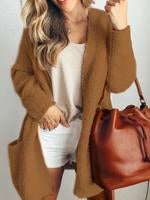 Casual Patchwork Long Sleeve Coat