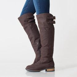Casual Heel Zipper Knee-High Boots