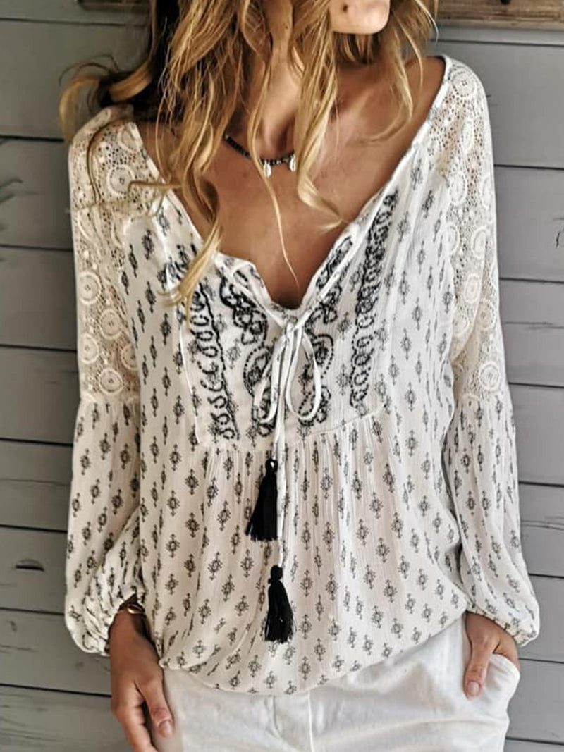 White Holiday Gathered Shirts & Tops
