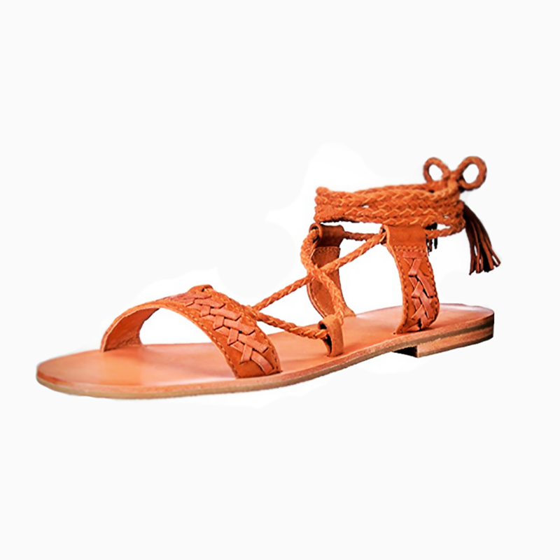 Women Flat Heel Lace-Up Summer Sandals