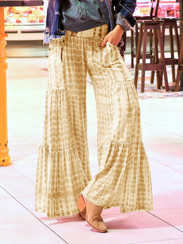 Boho Style Tie Dyed Loose Pants