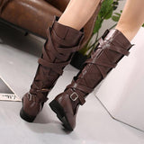 All Season Women Lace Up Casual Plus Size Boots