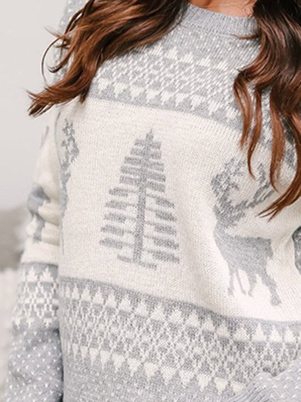 Casual Crew Neck Long Sleeve Sweater