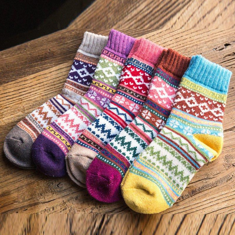 Casual Sheath Tribal Women Stretchy Socks