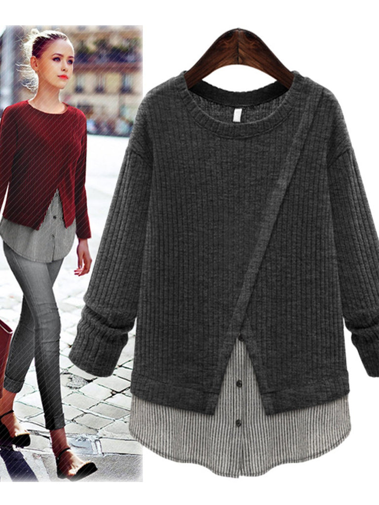 Casual Long Sleeve Sweet Appliqued Lightweight Sweater