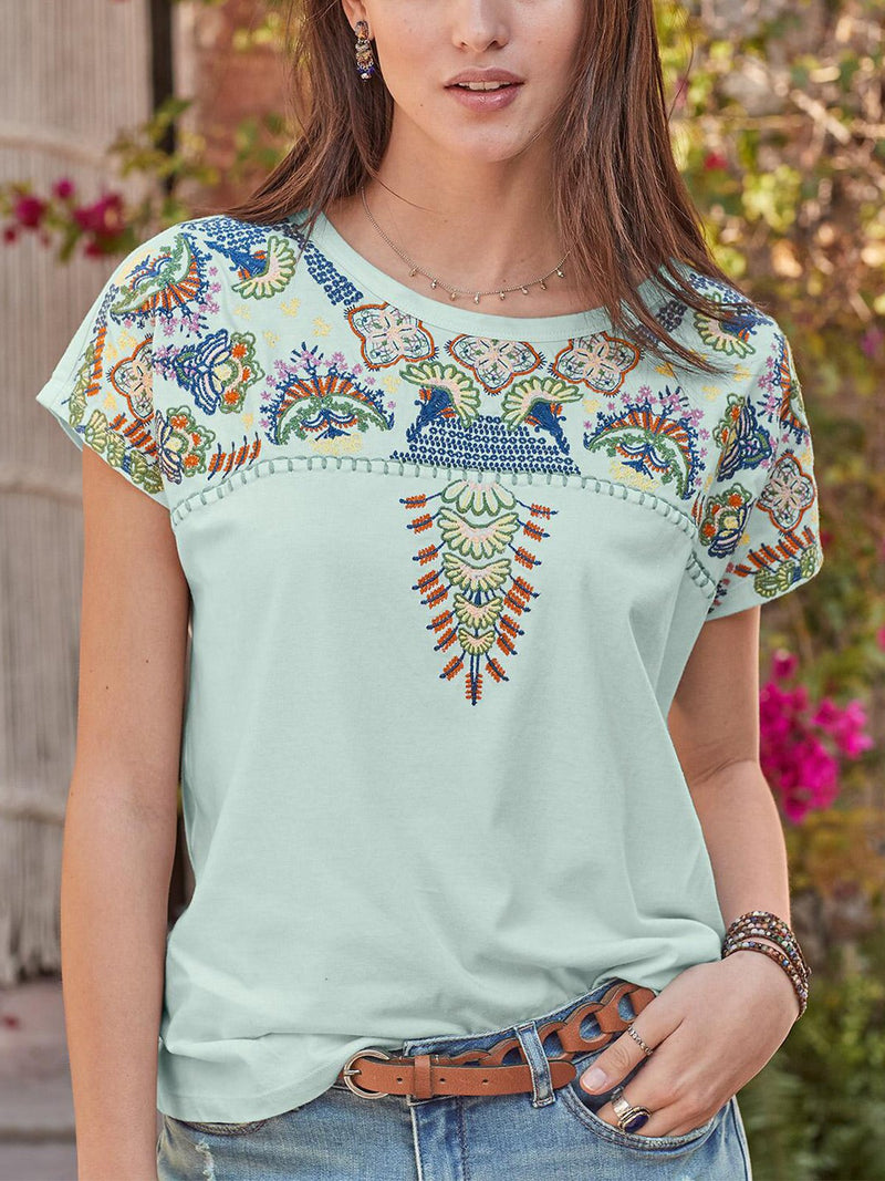 Casual Cotton Comfortable Embroidery Shirts