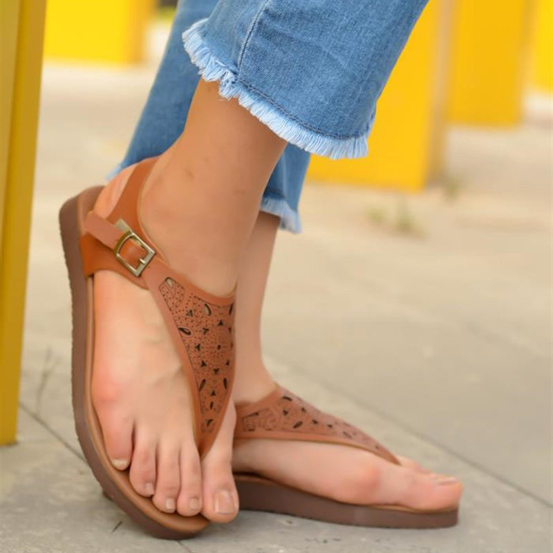 Women Summer Casual Comfy Thong Slingback Platform Sandals