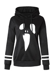 Animal Black Long Sleeve Crew Neck Printed Hoodie