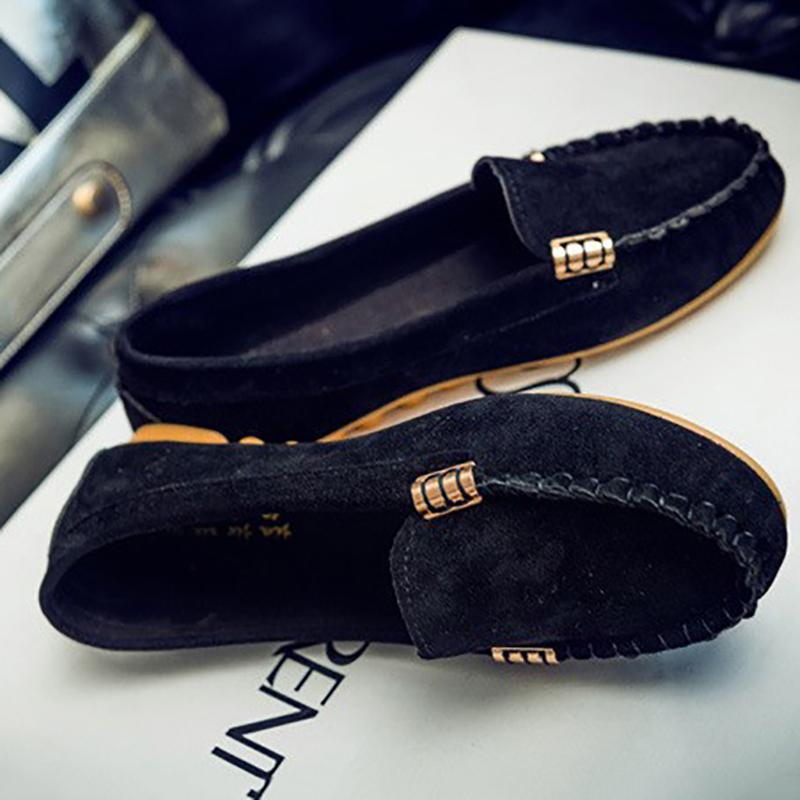 Casual Portable Soft Flat Heel Round Toe Loafers