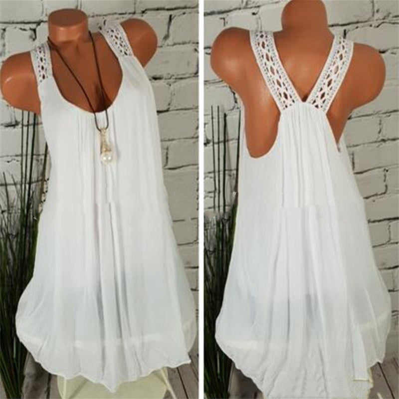 Casual Backless Spaghetti Plain Sleeveless Vest