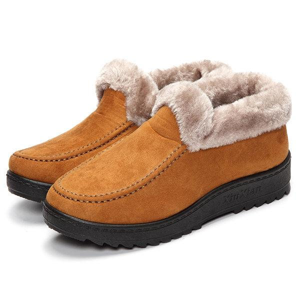 Ankle Soft Warm Footwear Low Heel Short Boots