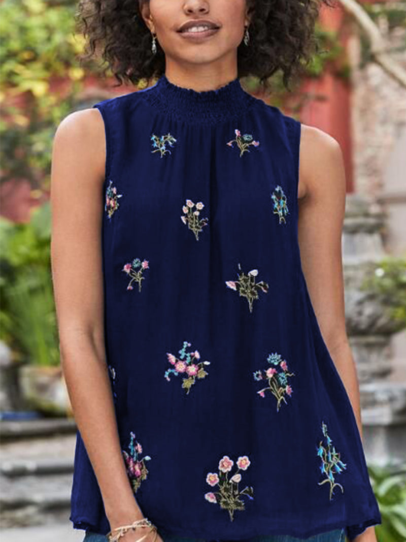 Embroidered Elegant Chiffon Shirts & Tops