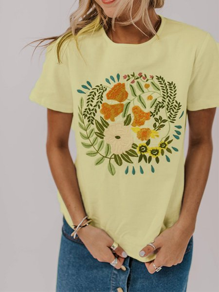 Embroidered Top T-shirt