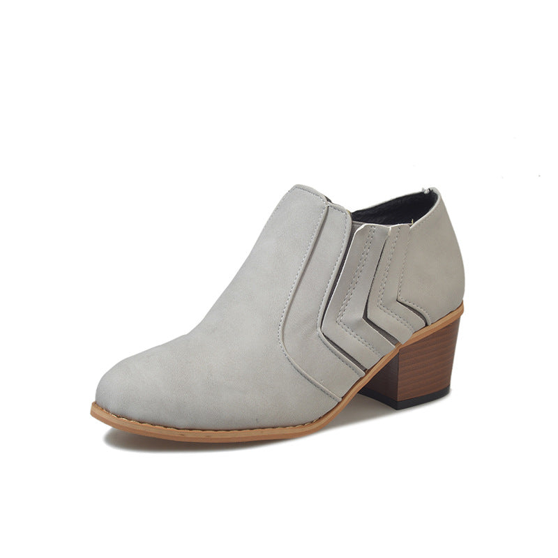 Women's Shoes Pointed Toe Casual Gray Kitten Heel Shoes