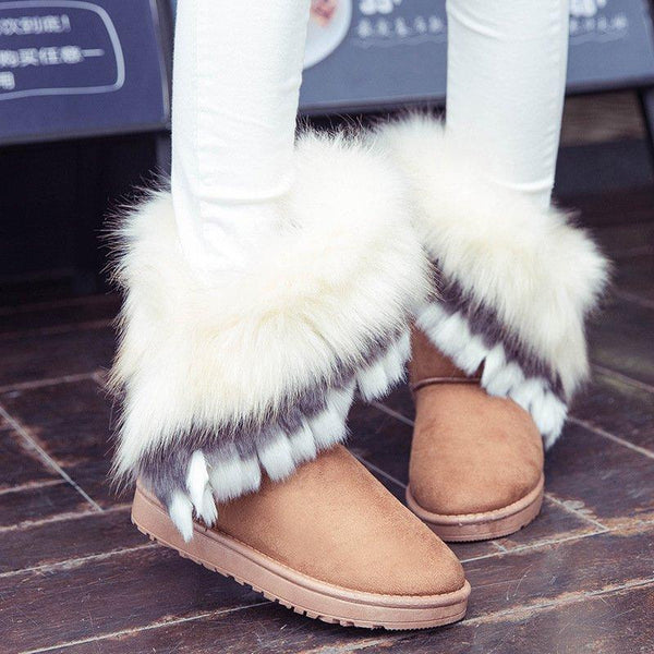 Applique Low Heel Casual Round Toe Ankle Boots