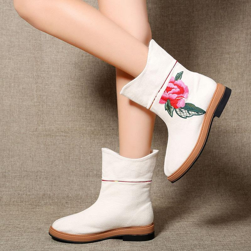 All Season Embroidery Chinese Style Boots