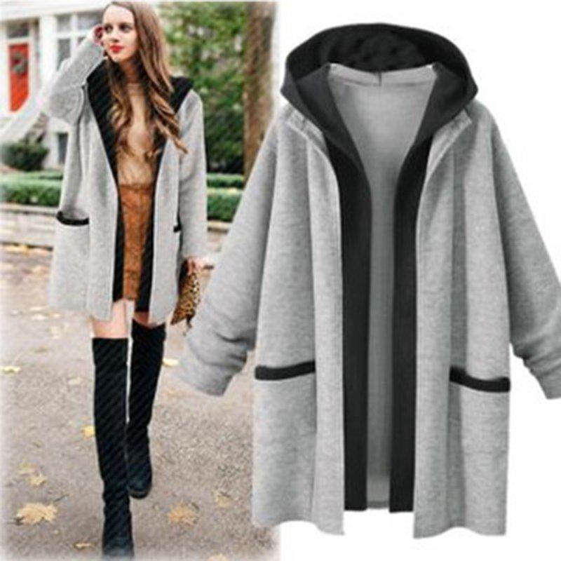 Casual Paneled Pockets Long Sleeve Hoodie