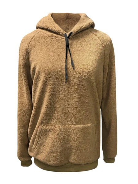 Casual Warm Plush Long Sleeve Hoodie