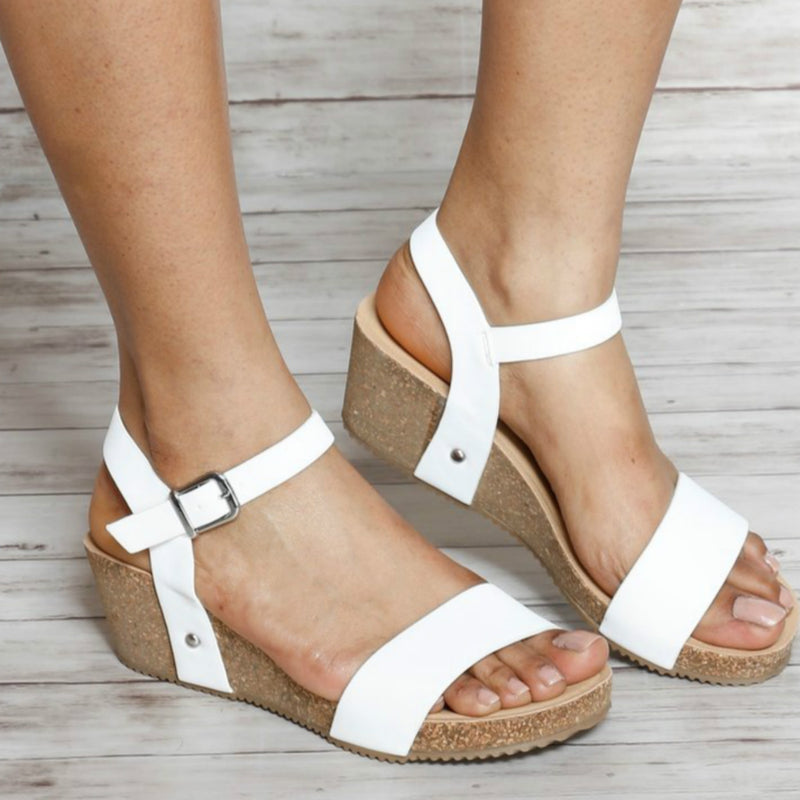 CASUAL OPEN TOE WEDGE