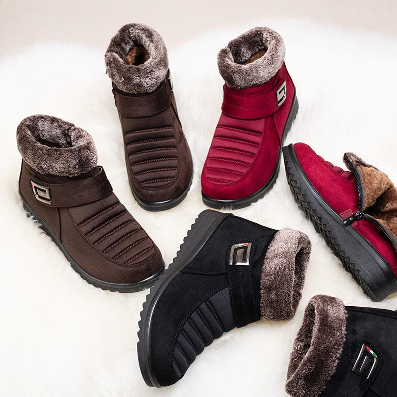 Flat Ankle Women Round Toe Winter Warm Snow Boots