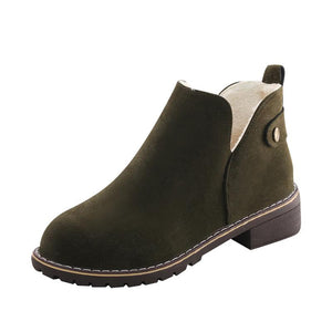 British Style Outdoor Martin Ankle Low Heel Boots