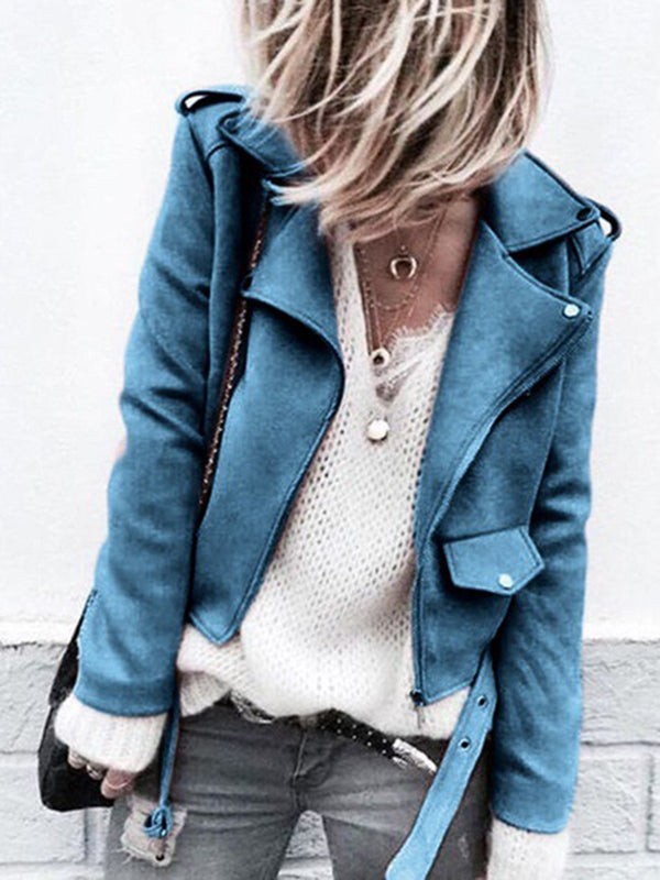 Casual Lapel Collar Buttoned Long Sleeve Coat