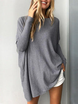Casual Long Sleeve Crew Neck Sweater