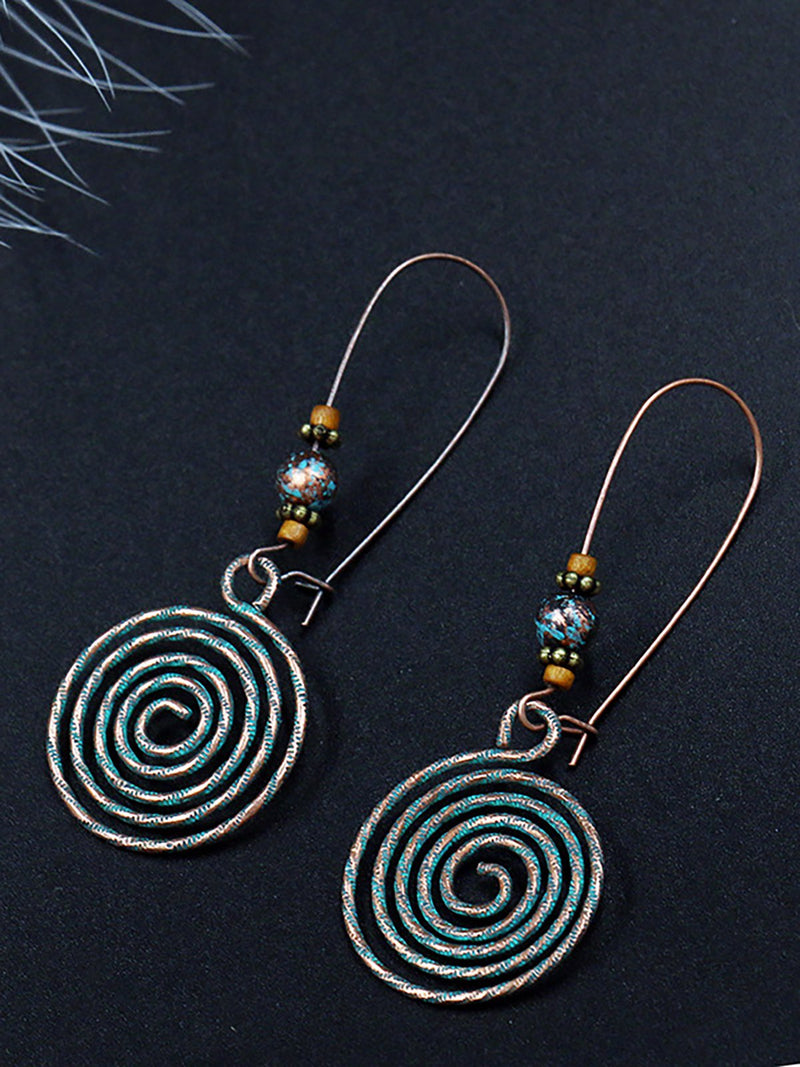 Round Alloy Hollow Earrings