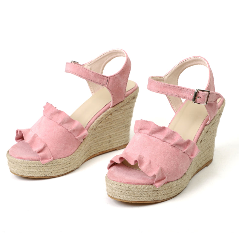 Europe Wedges Heel Straw Large Size Women Sandals