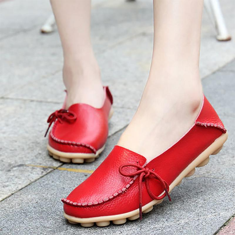 Casual Daily Lace-up Round Toe Flat