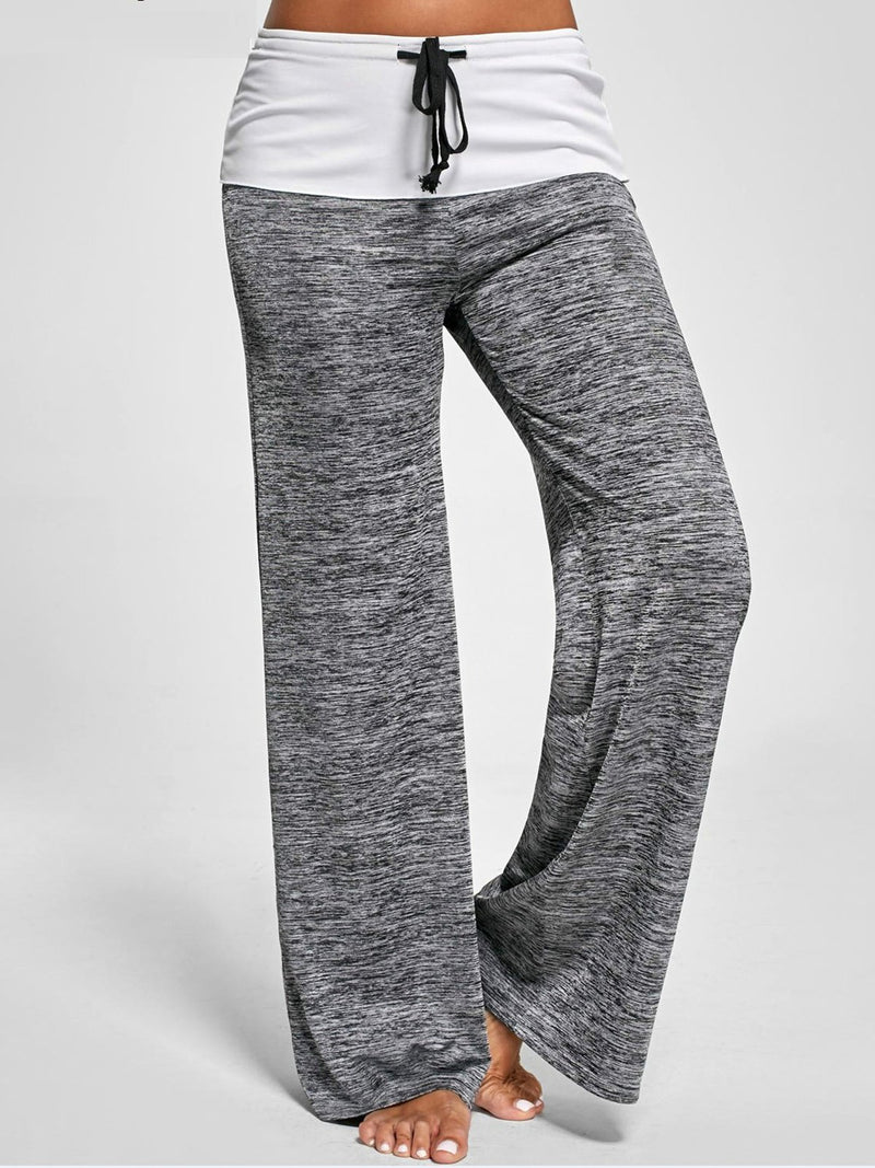 Casual Solid Slightly Stretchy Natural Pants