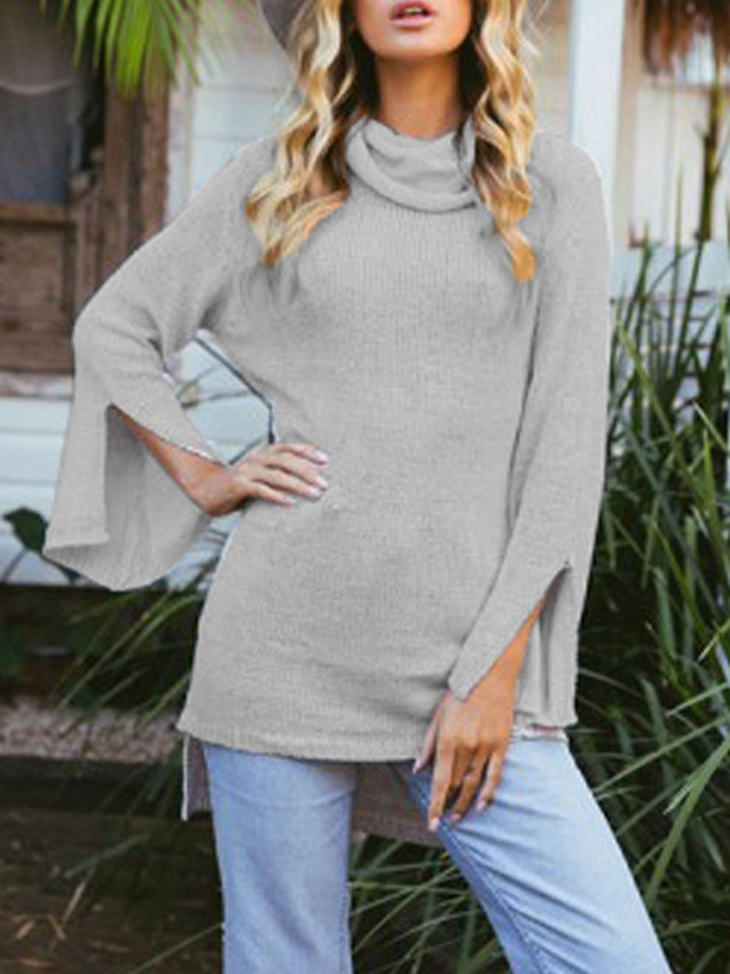 Cowl Neck Casual Long Sleeve Sweater