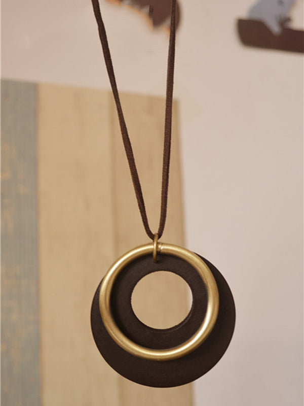 Simple Metal Round Necklace