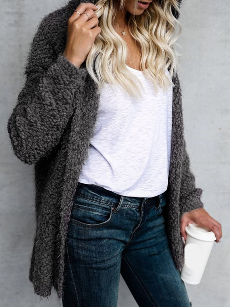 Long Sleeve Shift Casual Hoodie Coat