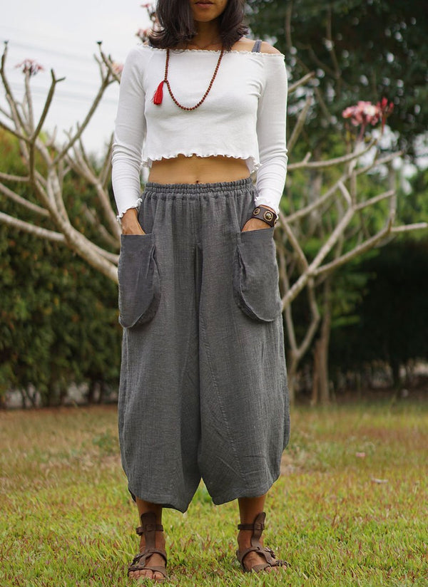 Women Casual Shift Cotton Pants