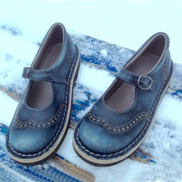 Vintage Mary Jane Casual Flat Shoes