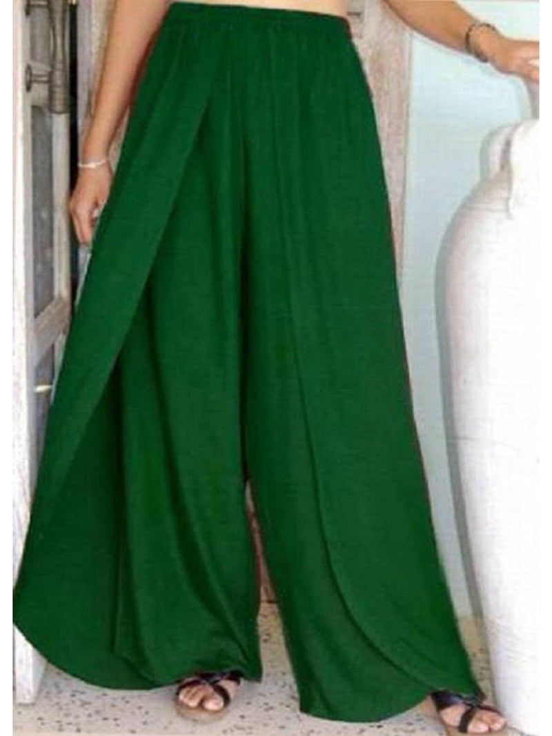 Women Casual Paneled Solid Shift Boho Pants