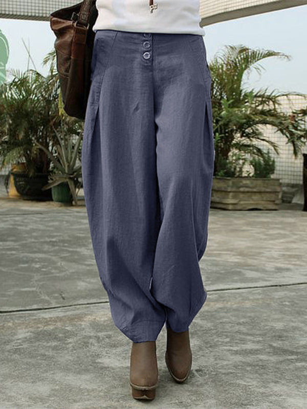 Women Linen Casual Pants