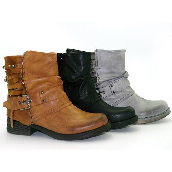 Adjustable Buckle Daily Ankle Chunky Heel Boots
