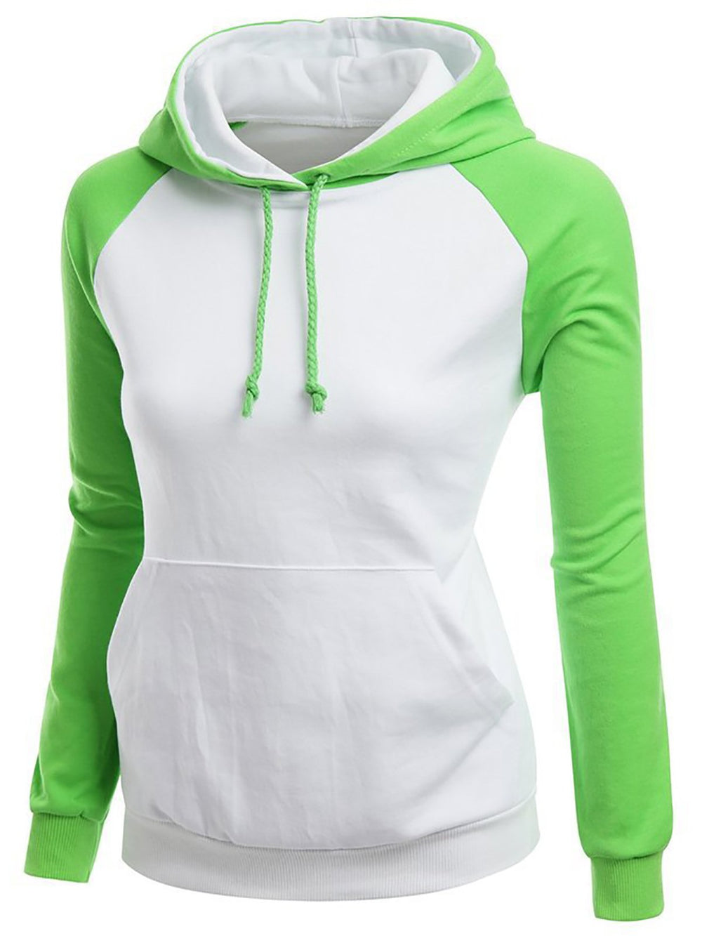 Casual Long Sleeve Sports Solid Slightly Stretchy Pockets Hoodie