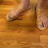 Tan Flat Heel Beach Summer Open Toe Sandals