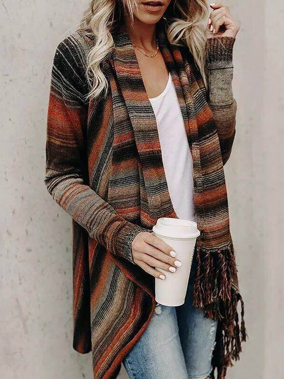 Asymmetrical Cowl Neck Casual Long Sleeve Sweater