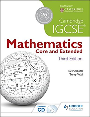 Cambridge IGCSE Mathematics Core and Extended 3rd Edition