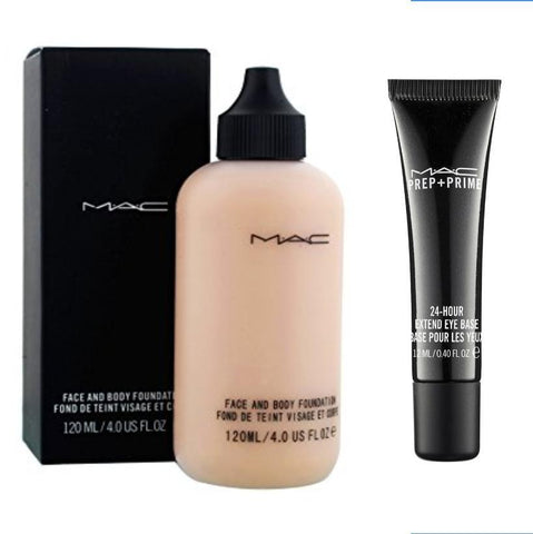 MAC STUDIO FACE AND BODY FOUNDATION and MAC PREP + PRIME