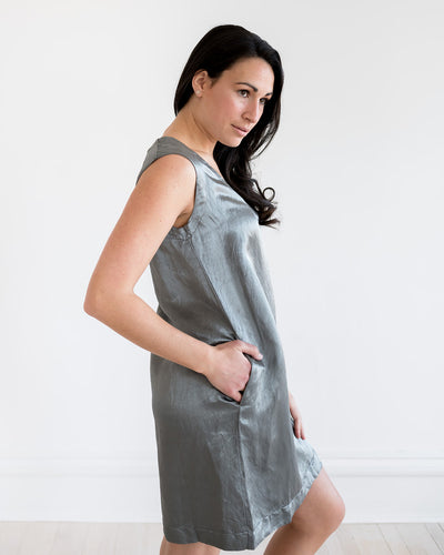 European Culture Silver Cocktail Dress