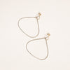 Elle Naz Sterling Silver & 14K Gold Tear Drop Hoops