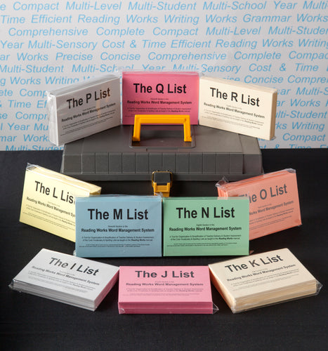 Word Management Flashcards Word List Section L