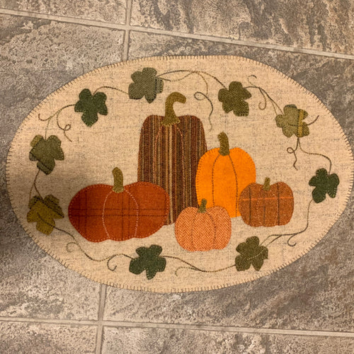 Pumpkin Patch Table Runner by The Woolen Needle