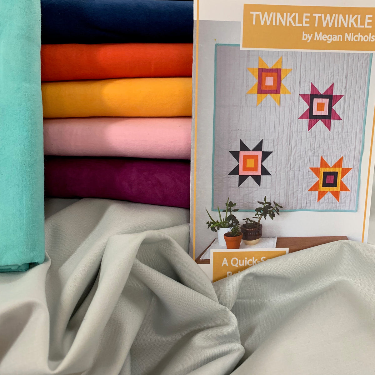 Twinkle Twinkle Quilt Kit featuring Cherrywood Hand Dyed Fabrics