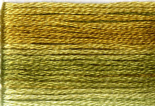 8018 Greens Golds Variegated Floss